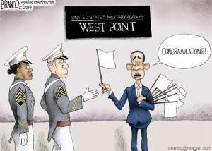 West-Point cartoon - Branco
