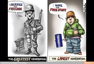 Greastest generation vs lamest generation