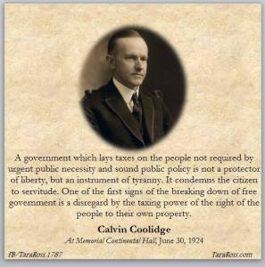Coolidge tax debt quote