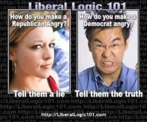 conservative vs. liberal truth