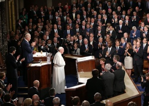 Pope Francis speaks to Congress