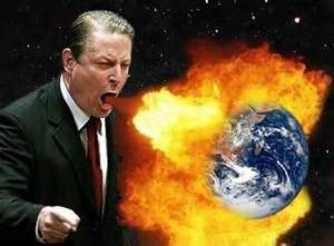 algore burns up the earth